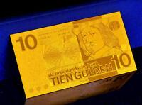 """★★ PAYS BAS / NETHERLANDS : BILLET POLYMER  """" OR """" DU 10 GULDEN ★★"""