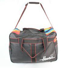 Vintage Maui Hawaii Duffel Bag Gym Travel Carry On Tote Black Rainbow Retro