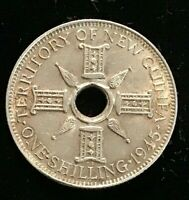 1945 Papua New Guinea Shilling Silver  EF