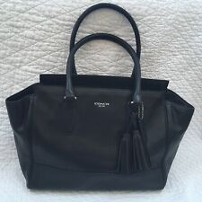 Coach Womens Purse/Handbag Tote Satchel Tassel D1273-19890 Black Leather