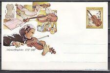 San Marino, 1981 issue. Antonio Stradivari, Violinist Postal Envelope.