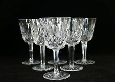 """Set of 6 Waterford Lismore 5 7/8"""" Tall Wine Glasses / Water Goblets"""