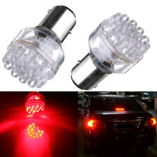 2x 1157 BAY15D 24 LED RED 12V 380 P21/ 5W Car Tail Stop Brake Lights Bulbs Lamps