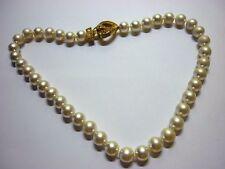 Bezaubernde Perlenkette Collier dreifarbig grün//blau//petrol 43 cm handgf NEU