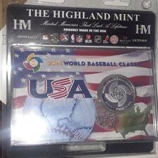 New listing Usa baseball Wbc World Classic Flag limited Edition Highland Mint silver Coin