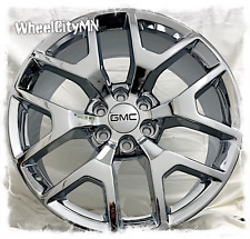 20 x9 inch chrome GMC Sierra 1500 Denali OE replica wheels 2015 2016 6x5.5 +27