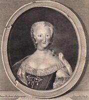 Portrait XVIIIe Marie Thérèse De Bourbon Infante D'Espagne Dauphine De France