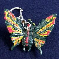 Vintage Keyring Butterfly Monster Two Head By T.T Collectible 1995