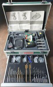 BOSCH PSR 18 Li-2 Cordless Drill/ Driver with tool box & drill bit's & screws