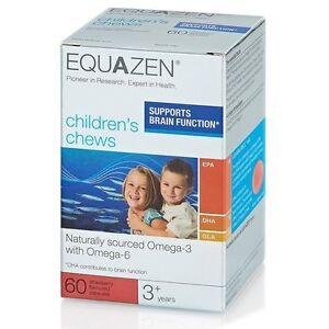 NEW!! Eye Q Equazen Children's Chews x 60,  support brain function