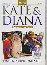 KATE MIDDLETON & PRINCESS DIANA WILLIAM'S TWO LOVES DAILY MIRROR MAGAZINE (RARE)