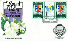 St VINCENT 1982 BIRTH OF PRINCE WILLIAM 60c GUTTER PAIR FIRST DAY COVER (b)