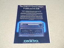 Onkyo Grand Integra Ad, 1987, 1 pg, M-508 Amp, P-308