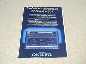 Onkyo Grand Integra Ad, 1987, 1 Pg , M-508 Amp, P-308
