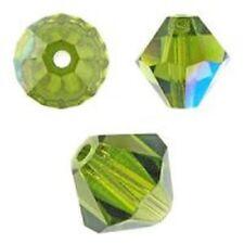 Swarovski Crystal Bicone. Olivine AB Color. 4mm. Approx. 144 PCS. 5328