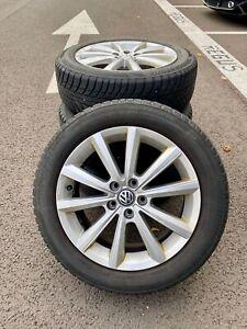 """4x 16"""" OEM Jantes Volkswagen Polo + Pneus Hiver neige Bridgestone"""