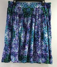 Womens Liz Claiborne Floral  Pleated Skirt Size 12