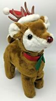 Vintage Christmas Musical Plush Rudolph the Red Nosed Reindeer Battery Operated