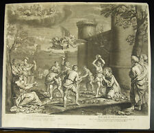 Martirio lapidación San Estienne Annibal Carracci c 1750 Stephani Martyrium