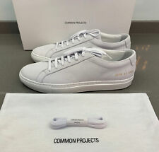Common projects Achilles Nubuck Lux White Sneakers Size 41 EU Brand New Boxed