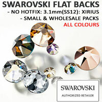 Genuine Swarovski® Flat Back Crystals Rhinestones 3.1mm SS12 NON HOTFIX Colours
