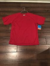 Columbia Bull Hill T-Shirt Large Red Short Sleeves XM6765 675 NEW With Tags