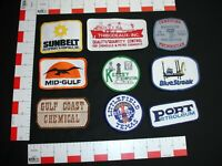 oil and gas advertising vintage patch set collection lot