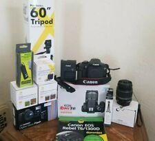 Canon EOS Rebel T6 Digital SLR Camera HUGE BUNDLE 🔥LOOK!!