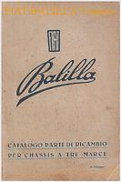 FIAT Balilla 3marce  – CATALOGO PARTI DI RICAMBIO ed. 1934 – Spare Parts!