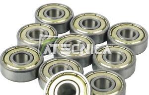 10 Bearings Lager 8x22x7mm 608 Zz 3D Drucker Reprap Prusa Bearing Mendel
