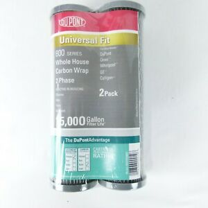 DuPont Water Filter Cartridge 800 2 Pack of Universal Carbon Wrap NEW