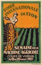 Original Art Deco Poster - Burnoud - Agricultural International Fair Lyon - 1927