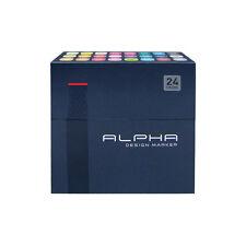 Graphic Art Marker Alpha Design Marker Double Tip 24 Colours Illustration