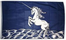 EINHORN BLAU Hissflagge FANTASY Fahnen Flaggen 90x150cm