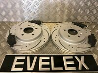 REAR DRILLED & GROOVED Brake Discs & Pads SAAB 93  VAUX SIGNUM VECTRA C 291mm