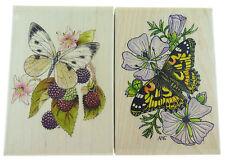 Sellos de Goma de madera mariposa nuevo paquete de 2 FP85 P1502P N