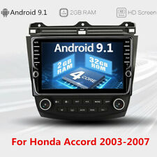 "9"" Touch Screen Android 9.1 2GB+32GB Stereo Radio GPS For Honda Accord 2003-2007"