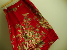 April Cornell Red Skirt New XL Extra Large Vintage Romantic A-line NWT Floral