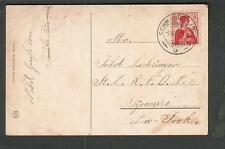 Switzerland 1914 Sammlung zur Helmkehr post card Schwanden to Syracuse NY