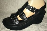 Kork-ease Korkys Wedge Black Strappy Sandal Size 10 *Amputee — Left Shoe ONLY*