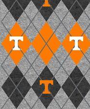 University of Tennessee Argyle Heather Fleece Fabric-NCAA Blanket Fabric
