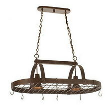 Copper Claret 2 Light Pot Rack Chandelier/Island