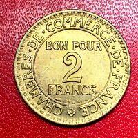 #2635 - RARE - 2 francs 1923 CDC Chambre de commerce SUP/SPL - FACTURE