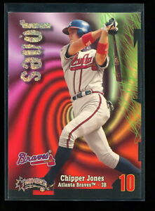 CHIPPER JONES 1998 SKYBOX THUNDER RAVE PARALLEL #d 115/150 RARE BRAVES HOF