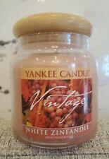 NEW Yankee Candle Vintage White Zinfandel Jar 14.5 oz