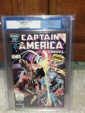 Captain America Annual #8 CGC 9.8 1986 Wolverine! DOUBLE COVER!! F4 116 1 cm