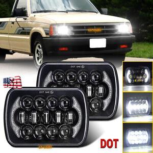For Mazda Pickup B2000 B2200 B2600 1986-1993 Pair LED Headlight H4 Plug Bulb DRL