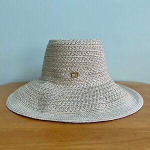 ERIC JAVITS Hampton Straw Hat in Cream - NEW