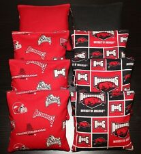 Arkansas Razorbacks 8 Cornhole Bean Bags Baggo Toss Top Quality Handmade! New!