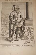 GRAVURE BELGIQUE GODEFRIDUS BARBATUS BRABANT VEEN COLLAERT 1623 OLD PRINT R989